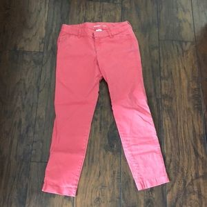 Pixie Coral Crop Pants